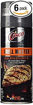 Price comparison product image Crisco Professional Grill Master No Stick Grill Spray 12oz Can (Pack of 6)