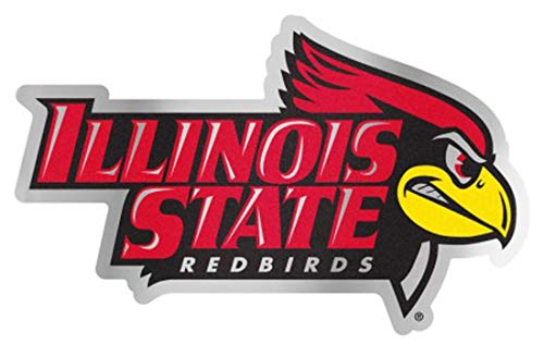 Illinois Plate Stickers - Illinois State Redbirds Auto Badge Decal, Hard Thin Plastic