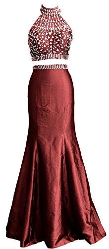 MACloth - Robe - Trapèze - Sans Manche - Femme -  Rouge - 40