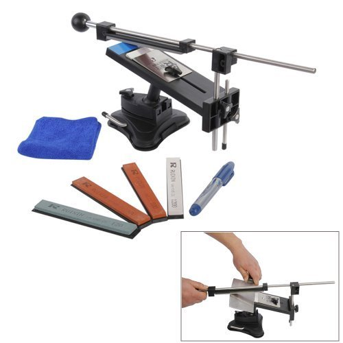 Image Professional Kitchen Knife Sharpener System Kit Fix Angle Version Ii With 4 Stones