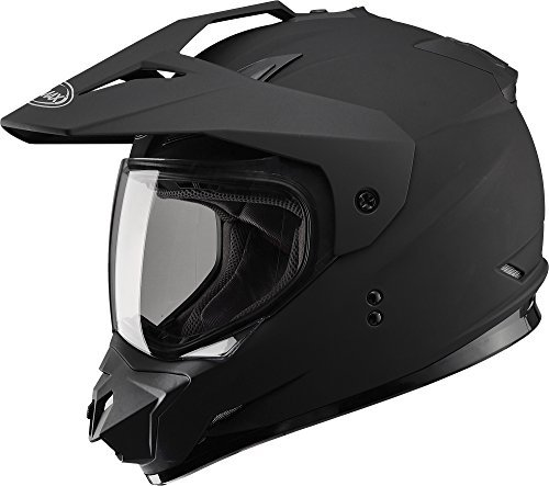 Gmax GM11D Dual Sport Full Face Helmet (Flat Black, Large) by Gmax