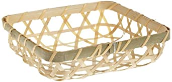 PacknWood Bamboo Woven Display Basket For Wooden Cones, 5.1 x 5.1-Inch (Case of 100)