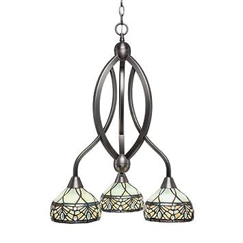 Amazon.com: toltec lighting 263-bn-9485 lazo 3 luz lámpara ...