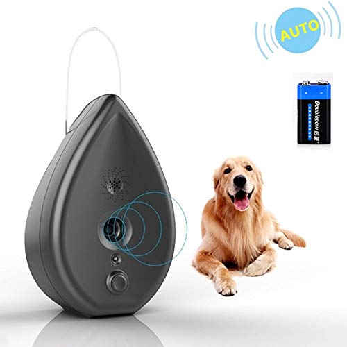 YMMY Anti Barking Device, Bark Control Device with 4 Adjustable Ultrasonic Volume Levels, Automatic Ultrasonic Dog Bark Deterrent Indoor Bark Box 100% Safe, Battery and Hanging Rope Included