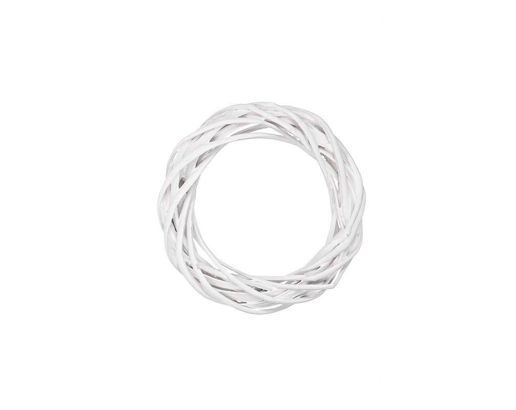 2 pz bianco, diametro 30 cm Ghirlanda Natalizia in legno intrecciato varie misure e colori 18440 504440G