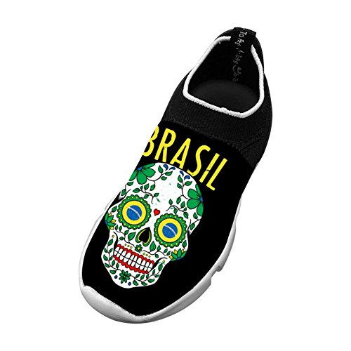 Vchat Fly knit Leisure Shoes Brazil Skull Fashion Leisure For Youngster Boy Girl
