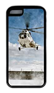 Customized Case Helicopter flight TPU Black for Apple iPhone 5C