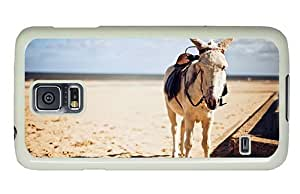 Hipster personalize Samsung Galaxy S5 Cases Saddled Donkey PC White for Samsung S5