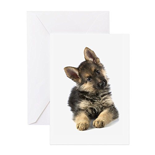 CafePress German Shepherd Greeting Card, Note Card, Birthday Card, Blank Inside Matte ()