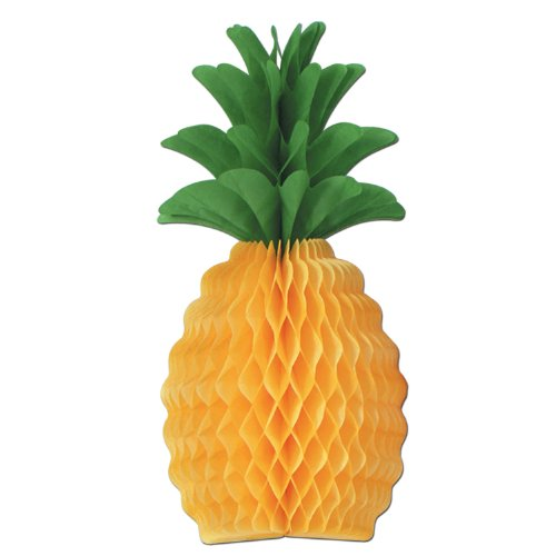 Beistle 55106-20 12-Pack Tissue Pineapple, 20-Inch