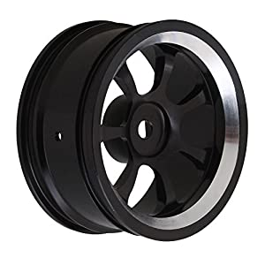 BQLZR Black Aluminum Alloy RC 1:10 On-Road Racing Car Wheel Rims with 7-Spoke Pack of 4