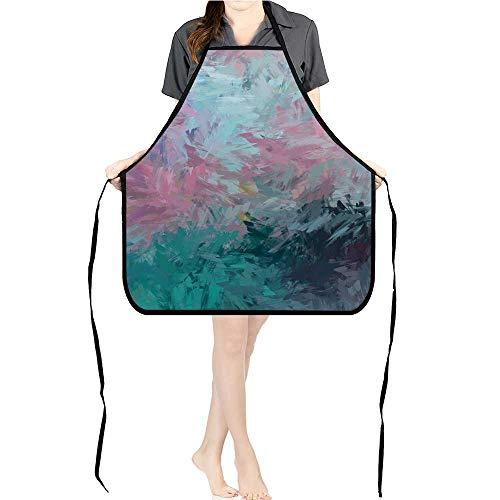 (Jiahong Pan Men and Women Kitchen Apron brushe painte backgroun Brush Stroke Paint for Cooking, Baking, Crafting, Gardening,)