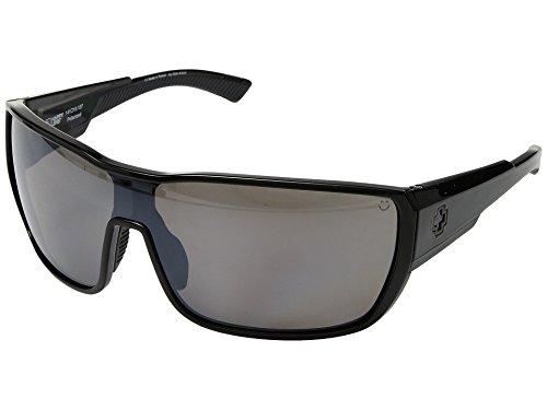 Spy Tron 2 Sunglasses Black with Happy Bronze Polarized with Black Mirror Lens ()