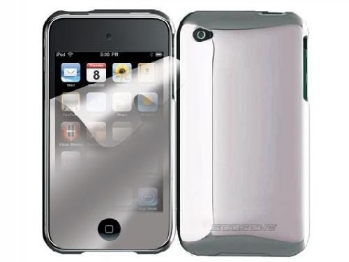 Scosche metalliKASE Case and Mirror Screen Protector for iPod touch 4G (Chrome)