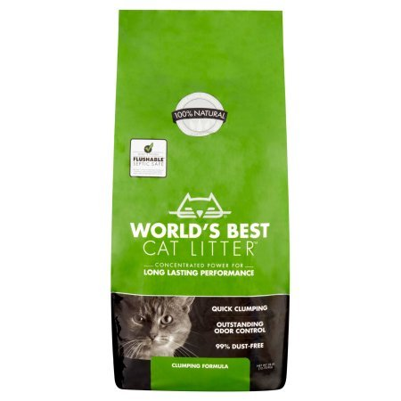 World's Best Cat Litter 28 lbs Easy Scooping, Odor Control Clumping Formula
