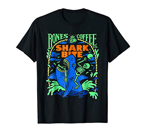 Bones And Coffee Shark Bite T-shirt