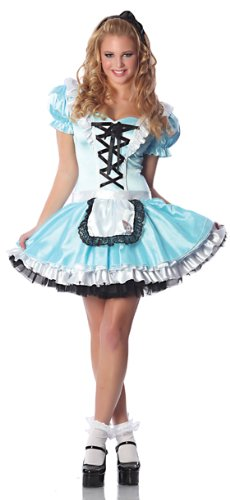 Go Sexy Costumes (Delicious Go Ask Alice Flirty Costume, Blue, Small)
