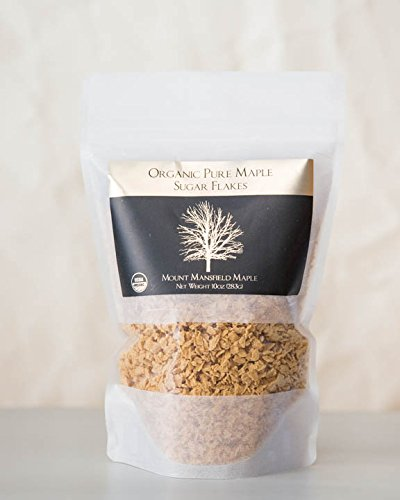 Mansfield Maple Certified Organic Pure Maple Sugar Flakes 10oz Bag