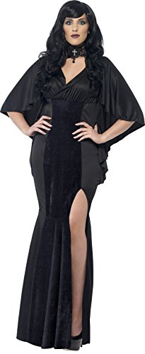 Sexy Plus Size Vampire Costumes (Smiffy's Women's Vamp Costume, Dress, Legends of Evil, Halloween, Plus Size 26-28, 44338)