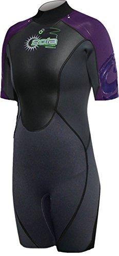 Sola Ignite 3/2Combinaison Short de bain pour femme–Graphite/Violet, Taille 18