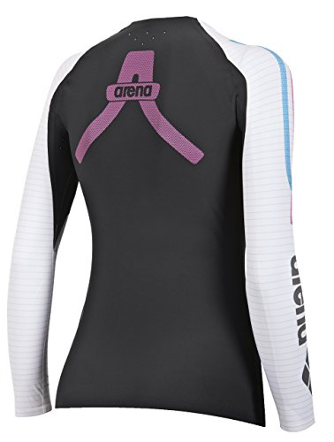 ba6ca8d00 arena 1D141 Women's Long Sleeve Top Powerskin Carbon Compression, Dark  Grey/White - XS