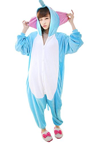 FashionFits Unisex Elephant Costume Pajama One Piece Animal Cosplay Jumpsuit XL from FashionFits