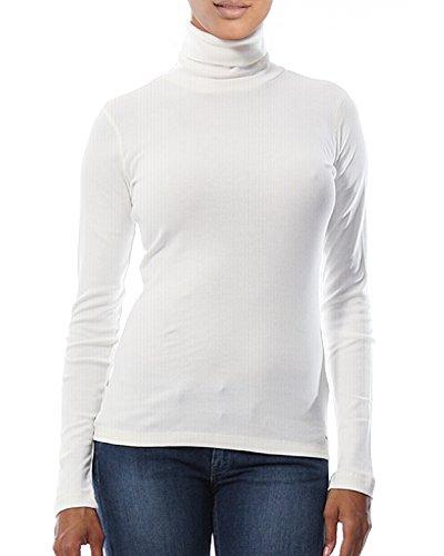 White Cotton Turtleneck - 4