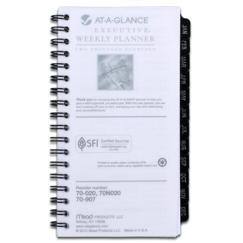 AT-A-GLANCE 2014 Weekly and Monthly Planner Refill for 70-020, 3.25 x 6.25 Inches (70-907-10) (Planner Timer Day 2015)