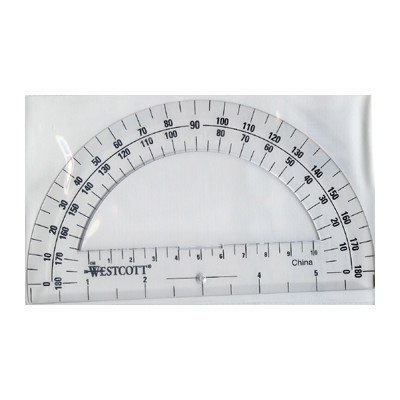 Protractor 6in 180 Degree Clear [Set of 8]