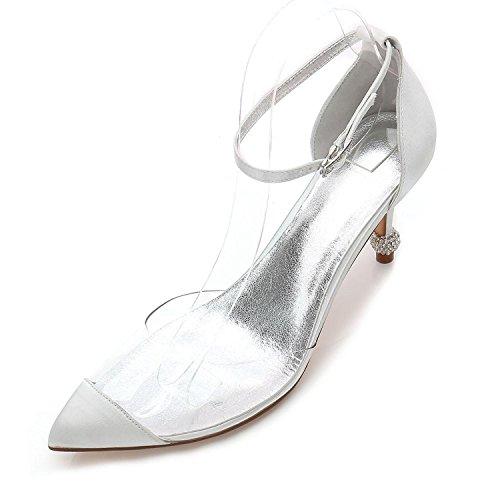 Party silver Stiletto Summer Wedding Casual des 21 YC de Femmes Soirée L F17767 amp; Robe Talons Aq7Yw1Z