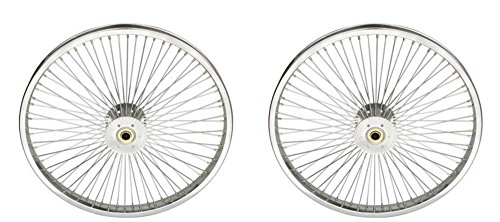 "Lowrider Two Chrome 20"" 72 Spoke Hollow Hub Wheels for Trike."