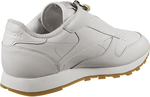 Scarpe Chalk Classic Reebok Donna Basse Leather da Ginnastica Zip wAnTx