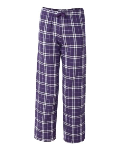 boxercraft-adult-team-pride-flannel-pants-purple-white-l