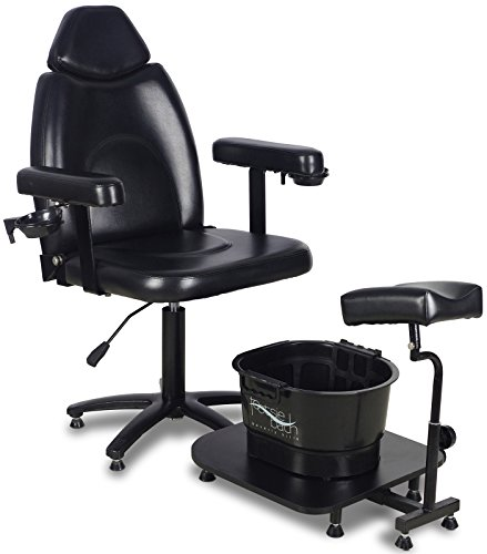 Icarus ''Zenith'' Black Pedicure Foot Spa Station Chair by Icarus