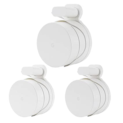 Google WiFi Wall Mount WiFi 3 Packs,WiFi Accessories for Google Mesh WiFi  System,Built-in Cable Management Without Messy Cable+Manual Guidance(White)