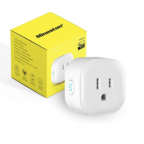 Z-Wave Plug On/Off Switch Outlet, Built in Repeater, Work with Smart Things, Wink, Z-Wave hub Require