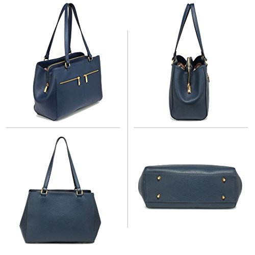 FREE Gorgeous Tote UK Pockets Navy Bag DELIVERY Women's Front IHrIwqY
