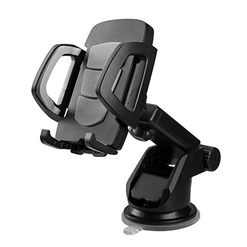 Lantoo Car Mount, Adjustable Car Phone Holder Universal Long Arm/Neck 360°Rotation with Reusable Suction Cup for Dashboard and Windshield for iPhone6/6s/6Plus,Samsung,Sonny,HTC(Gray)