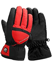Highcamp Kids Waterproof Ski Snowboard Gloves Winter Gloves for Boys Girls Cold Weather