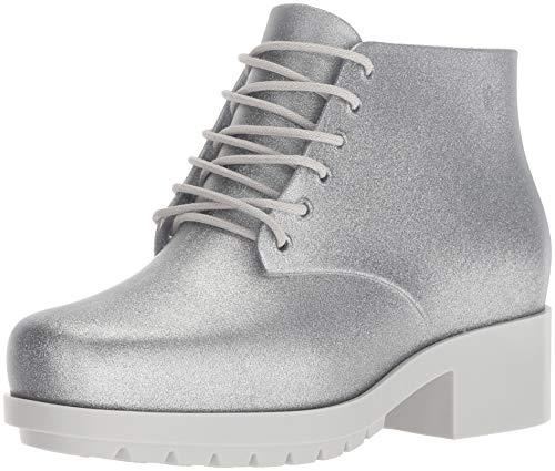 Mini Melissa Girls' Mel Stellar Ankle Boot, Silver Sparkle, 2 Medium US Little Kid]()