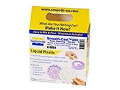 Smooth Cast 300 is a liquid plastic ,ultra-low viscosity casting resin that yields castings that are bright white and virtually bubble-free. Vacuum degassing is not necessary. It offers the convenience of a one to one mix ratio (by volume). 3...