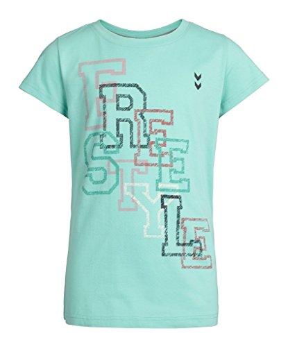 Hummel Mädchen T-Shirt Magda Short Sleeve Tee SS16, Cockatoo, 140, 09-731-6022