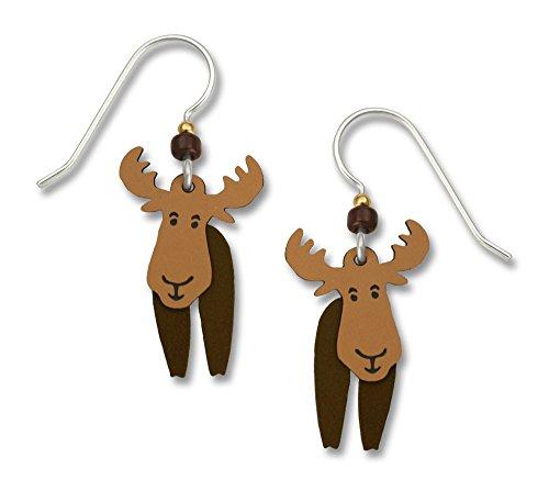 Sienna Sky Hand Painted Moose Earrings
