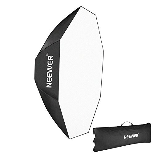 Neewer 30''x30'' / 80cmX80cm Octagon Umbrella Speedlite Softbox with Bowens Mount Speedring for Nikon, Canon, Sony, Pentax, Olympus, Panasonic Lumix, Neewer Speedring Flash and Other Small Strobe Flashes