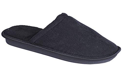 Memory Textile Comfort Clog Mule Schwarz On Hausschuhe Herren Soft Foam Slip qWtwpcAR