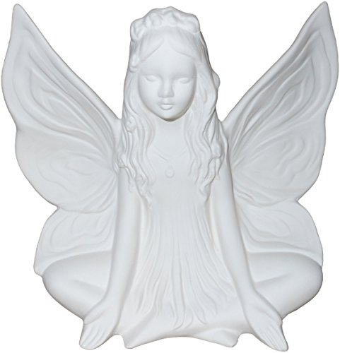 Large Mari the Magnificent Fairy - Stunning Detail - Paint Your Own Ceramic Keepsake Unpainted Ceramic Figures