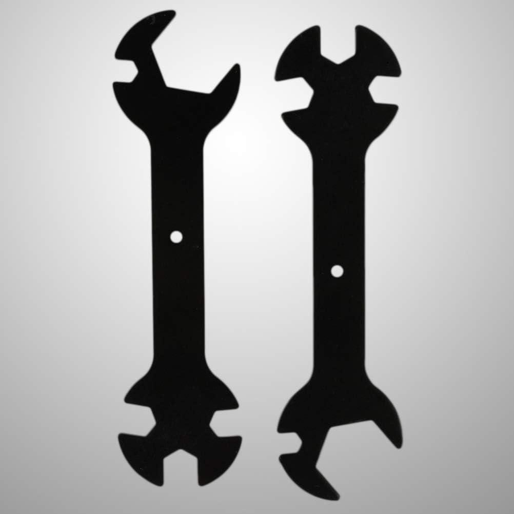 Negro ULTECHNOVO 2pcs Llave 5 en 1 Herramienta de Llave de Impresora 3D para Boquilla 3D MK8 MK10