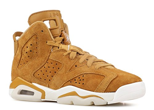 Nike Air Jordan 6 Retro BG Big Kid's Basketball Shoes Golden Harvest, 4.5 by NIKE