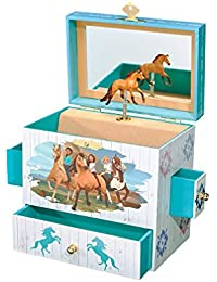 Spirit Riding Free - Spirit and Lucky Musical Horse Jewelry Box