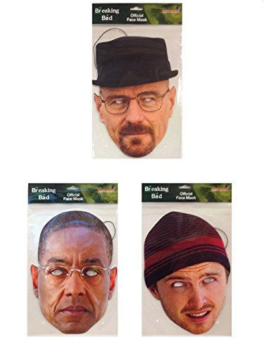 Jesse Costume Breaking Bad (Breaking Bad TRIPLE MASK PACK- Includes Heisenberg, Jesse Pinkman and Fring)